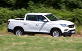 Ssangyong Musso EX 2019 UK first drive review - hero side