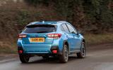 Subaru XV e-Boxer 2020 UK first drive review - hero rear