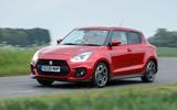 Suzuki Swift Sport hybrid 2020 UK first drive review - hero rear