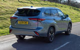 2 Toyota Highlander 2021 UK first drive review hero rear