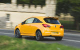 Vauxhall Corsa GSi 2018 UK first drive review hero rear