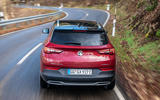Vauxhall Grandland X Hybrid4 2020 first drive review - hero rear