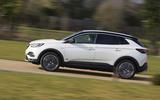 Vauxhall Grandland X Hybrid4 2020 UK first drive review - hero side