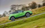 2 Vauxhall Mokka e 2021 UK first drive review hero side