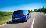 Volkswagen Golf R Performance Pack 2018 review hero rear
