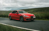 Alfa Romeo Giulia Quadrifoglio 2020 UK first drive review - on the road side