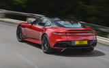 Aston Martin DBS Superleggera 2018 first drive review cornering rear