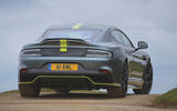 Aston Martin Rapide AMR 2019 UK first drive review - on the road rear