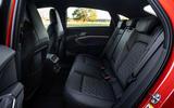 Audi E-tron S Sportback 2020 first drive review - rear seats