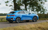 Audi Q3 Sportback 2019 UK first drive review - on the road side