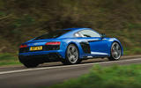 Audi R8 RWD 2020 UK first drive review - on the road rear
