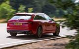 Audi S6 Avant TDI 2019 UK first drive review - cornering rear