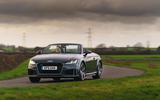 Audi TT Roadster 2019 UK first drive review - cornering front