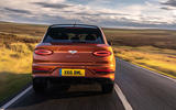 Bentley Bentayga 2020 UK first drive review - on the road rear