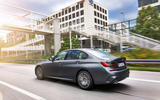 BMW 3 Series 330e 2019 first drive review - on the road rear