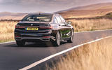 BMW 7 Series 730Ld 2019 UK first drive review - on the road rear