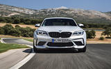 BMW M2 Competition 2018 first drive review track front angle