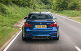 BMW M3 CS 2018 review on the road rear