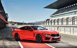 BMW M8 Competition Coupé 2019 first drive review - static front