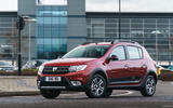 Dacia Sandero Stepway Techroad 2019 first drive review - city driving front