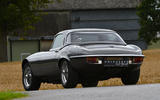 20 E Type Unleashed V12 2021 UK First drive review cornering rear
