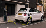 20 Fiat 500e Action 2021 UK FD static