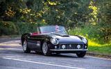 20 GTO California Spyder revival 2021 UK FD cornering front