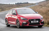 Hyundai i30 Fastback N 2019 UK first drive review - cornering front
