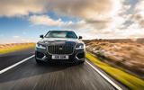 20 Jaguar XF Sportbrake 2021 UK first drive review on road nose