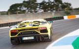Lamborghini Aventador SVJ 2018 first drive review track rear