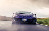 Lamborghini Aventador SVJ 2018 UK first drive review - on the road nose