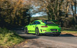 Manthey 911 GT3 RS MR 2020 first drive review - cornering rear