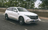 Mercedes-Benz EQC 400 2019 UK first drive review - cornering side