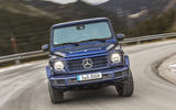 Mercedes-Benz G-Class G350d 2018 first drive review - cornering front