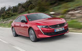 Peugeot 508 2018 review on the road angle