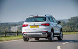 Seat Ateca Xperience 2020 UK first drive review - on the road rear