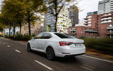 Skoda Superb iV 2020 first drive review - tracking rear