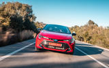 Toyota Corolla hybrid hatchback 2019 first drive review - on the road nose