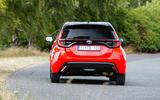 Toyota Yaris hybrid 2020 UK first drive review - cornering rear