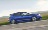 20 Volkswagen Golf R performance pack 2021 UK FD on road side