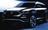 New Ssangyong Rexton sketch of exterior