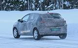 2021 Dacia Sandero winter testing - rear three quarters