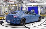 Mercedes EQS production rear