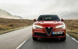 Alfa Romeo Stelvio Quadrifoglio 2018 UK RHD first drive - action front