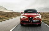 Alfa Romeo Stelvio Quadrifoglio 2018 UK RHD first drive - action front