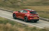 Alfa Romeo Stelvio Quadrifoglio 2020 UK first drive review - on the road rear