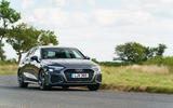 Audi A3 Sportback 2020 UK first drive review - cornering front