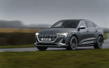 21 Audi E tron S Sportback 2021 UK first drive review on road front