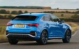Audi Q3 Sportback 2019 UK first drive review - cornering rear