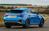 Audi Q3 Sportback 2019 UK first drive review - cornering rear
